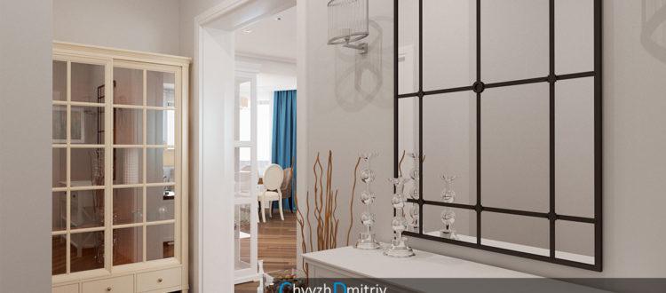 Холл прихожая классика зеркало дизайн интерьера декор современная классика гостиная столовая