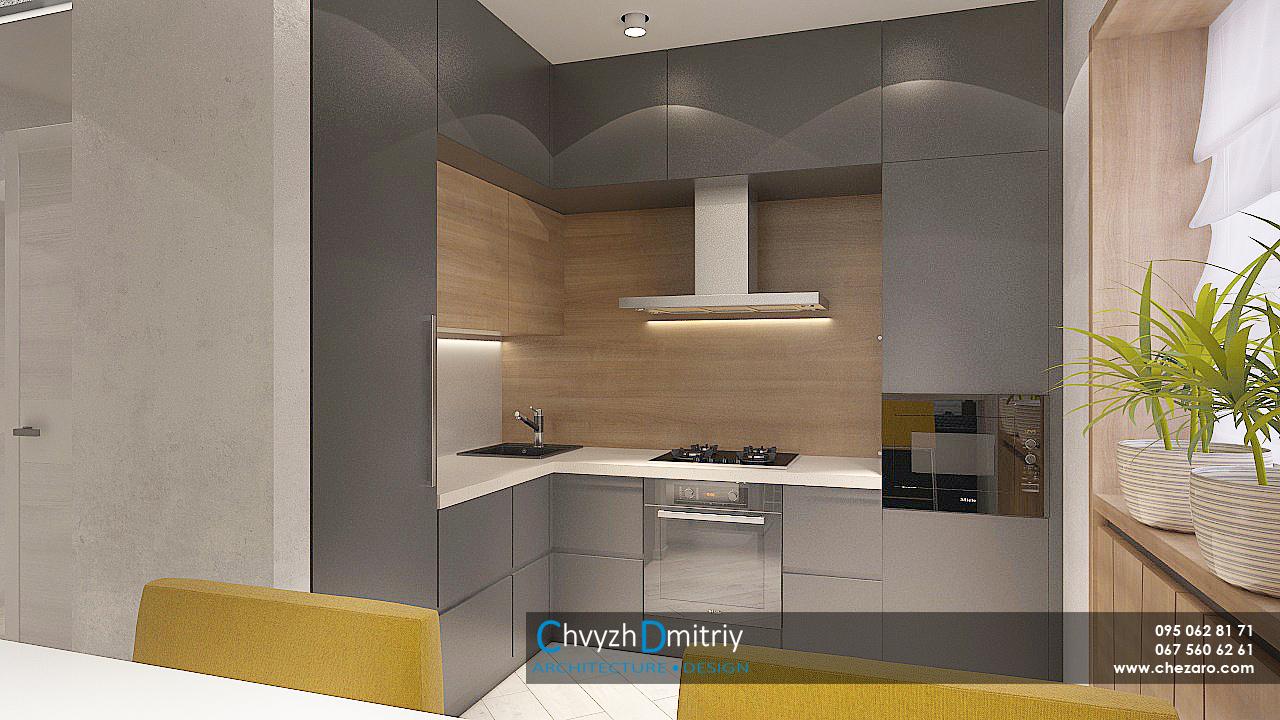 Кухня гостиная минимализм декор встроенная техника деревобарная стойка вытяжка