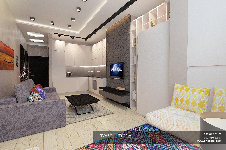 Кухня-гостиная Дизайн интерьера современный дизайн этно тектиль диван декор гостиная столовая кухня освещение свет шкафы хранение