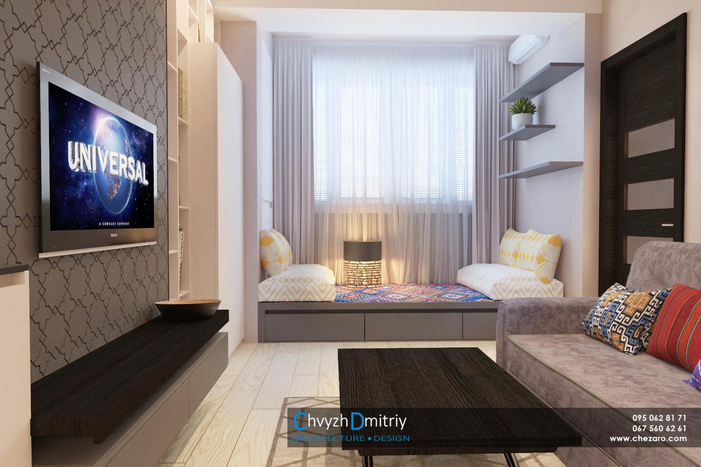 Кухня-гостиная Дизайн интерьера современный дизайн этно тектиль диван декор гостиная свет шкафы твзона