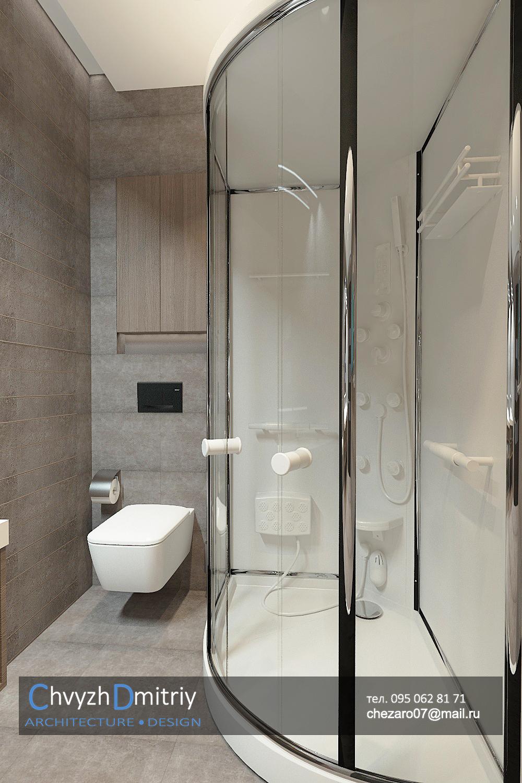 Ванная Санузел туалет ванна душевая зеркало унитаз инсталляция керамогранит