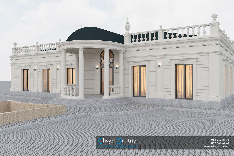 Проектирование дизайн архитектура коттедж дом вилла особняк классика неоклассика фасад балясины резиденция ротонда колонны