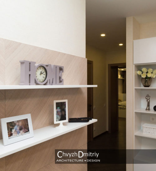 Гостиная коридор шкаф полки система хранения шпонированные панели декор современный дизайн интерьер квартиры минимализм фьюжн дизайн гостиной