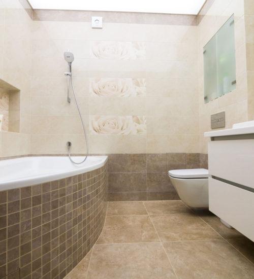 Ванная комната санузел ванна душ умывальник зеркало унитаз инсталляция керамическая плитка керамогранит современный дизайн интерьер квартиры минимализм фьюжн дизайн санузла