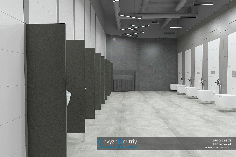Общественный санузел туалет писуары современный дизайн HPL унитазы керамогранит
