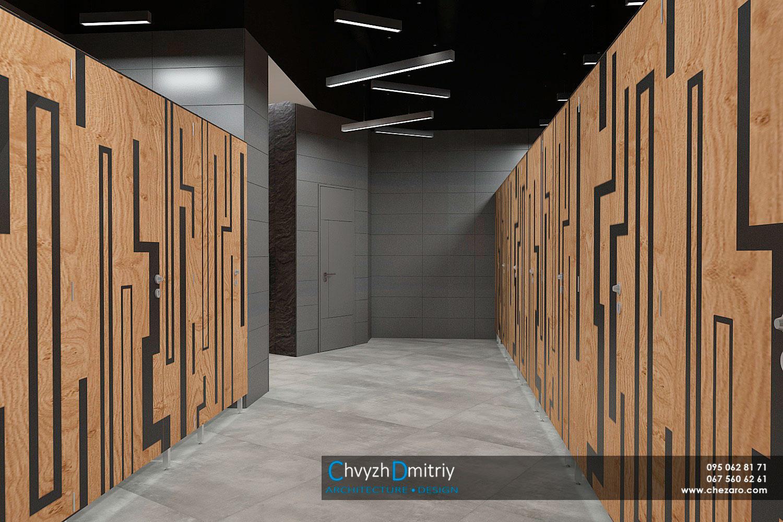 Общественный санузел HPLпанели декоративная фрезеровка сантехнические кабины современный дизайн минимализм керамогранит