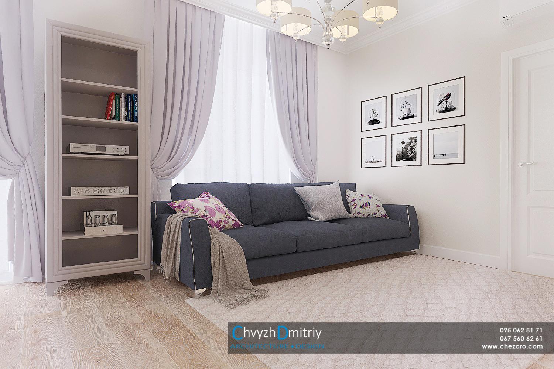 гостиная студия современный дизайн интерьер квартиры неоклассика эклектика диван твзона декор текстиль мебель паркет ламинат ковер