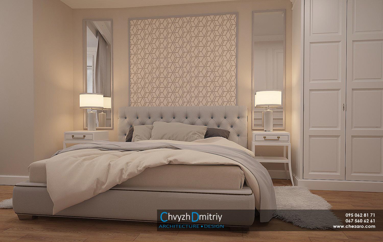 Спальня кровать классика неоклассика классическая мебель зеркало тумбы ковер шкаф
