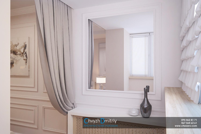 Спальня балкон кабинет классика неоклассика классическая мебель стеновые панели молдинг фриз зеркало тумбы туалетный столик