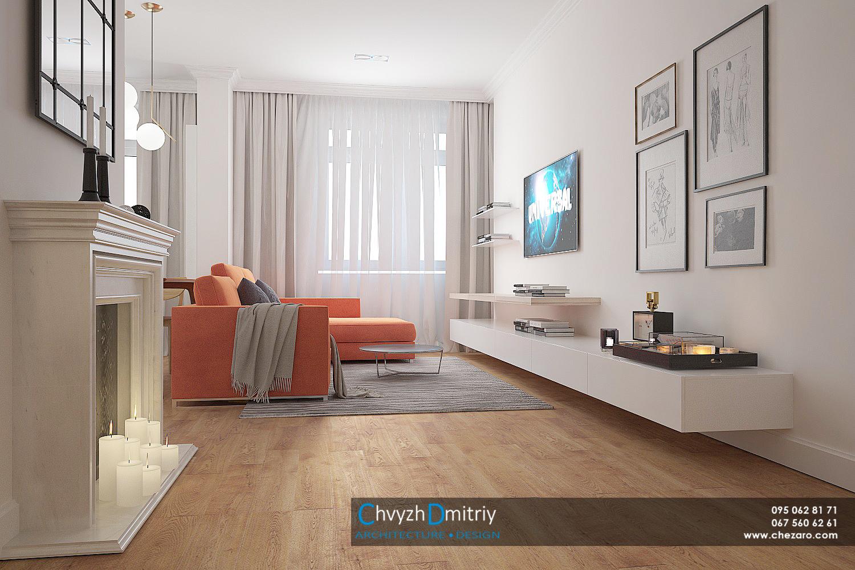 Кухня гостиная студия камин консоль твзона диван декор текстиль паркет ламинат ковер классика неоклассика современный дизайн столик зеркало