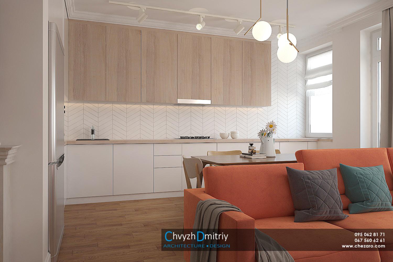 Кухня гостиная диван декор текстиль паркет ламинат ковер классика неоклассика современный дизайн керамическая плитка шеврон люстра обеденный стол стулья