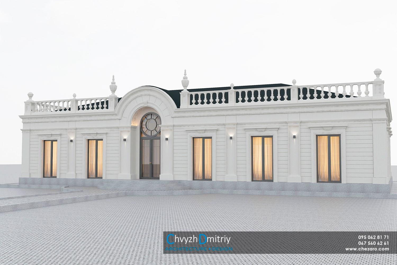 Проектування дизайн архітектура котедж будинок вілла особняк класика неокласика фасад балясини вітраж