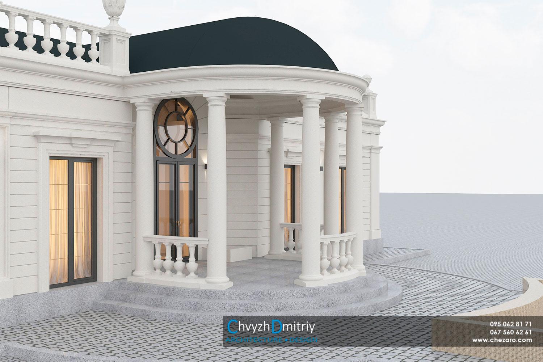 Проектування дизайн архітектура котедж особняк класика неокласика фасад балясини будинок резиденція