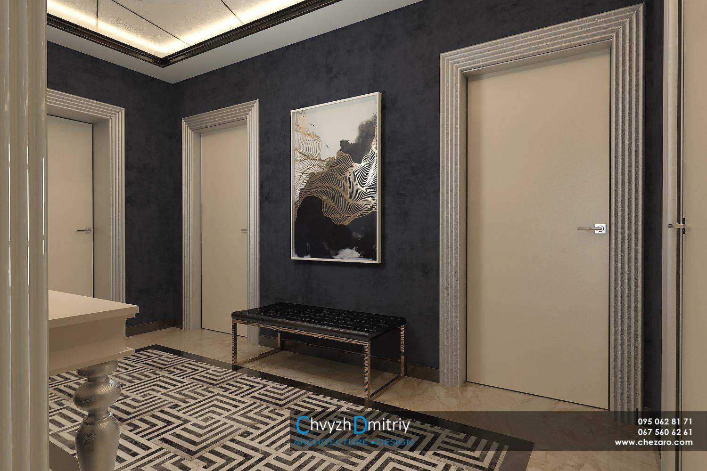 Холл-прихожая-современный-дизайн-арт-деко