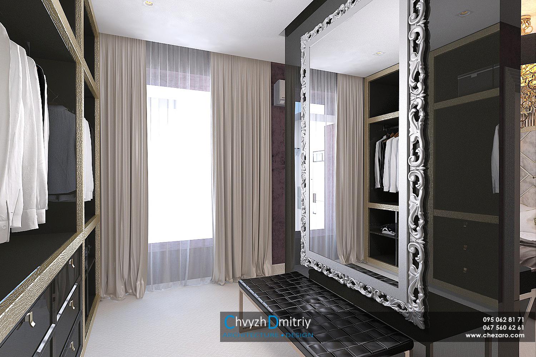 Гардеробная система хранения шкаф декор арт-деко артдеко классика спальня зеркало багетная рама текстиль